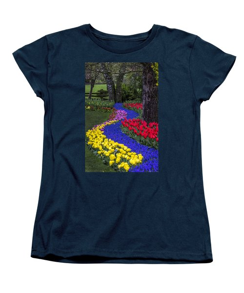 River Of Blue Women's T-Shirt (Standard Cut) by Sonya Lang