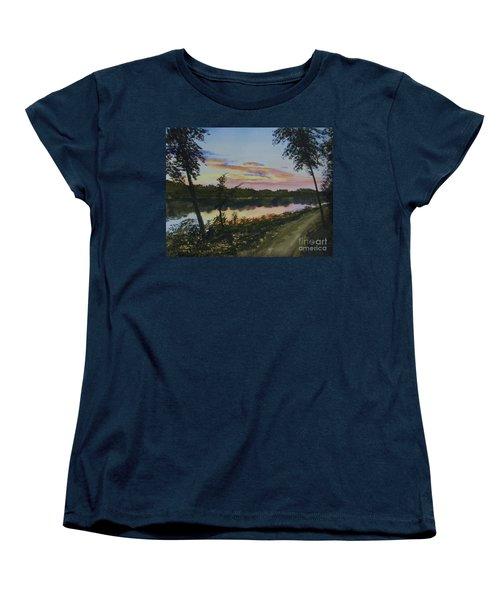 River Sunset Women's T-Shirt (Standard Cut) by Martin Howard