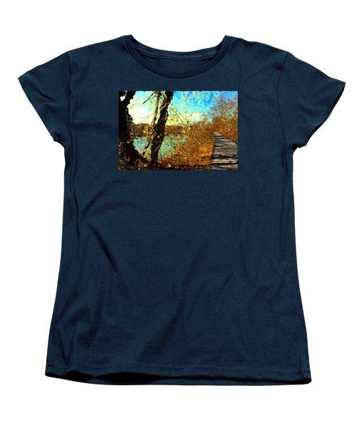 Riverwalk Women's T-Shirt (Standard Cut) by Terence Morrissey