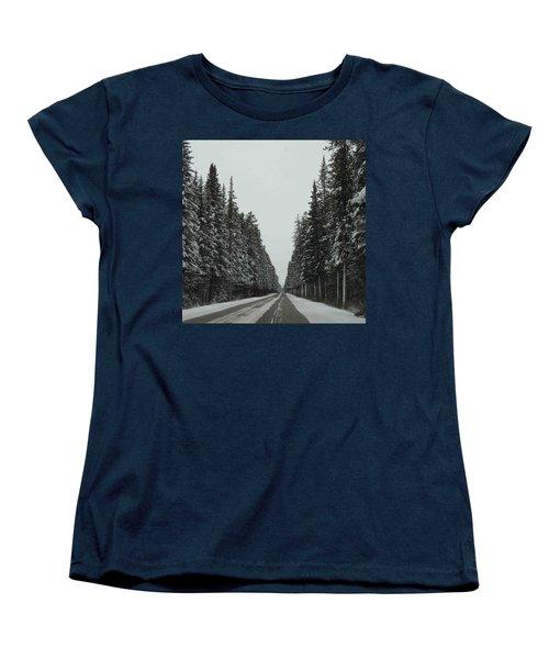 Road To Banff Women's T-Shirt (Standard Cut) by Cheryl Miller