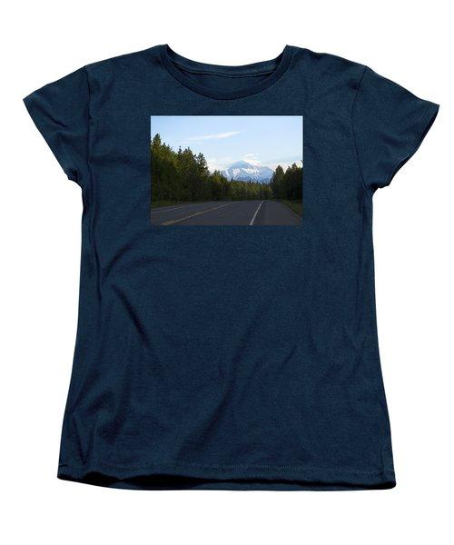 Road To Denali  Women's T-Shirt (Standard Cut) by Tara Lynn
