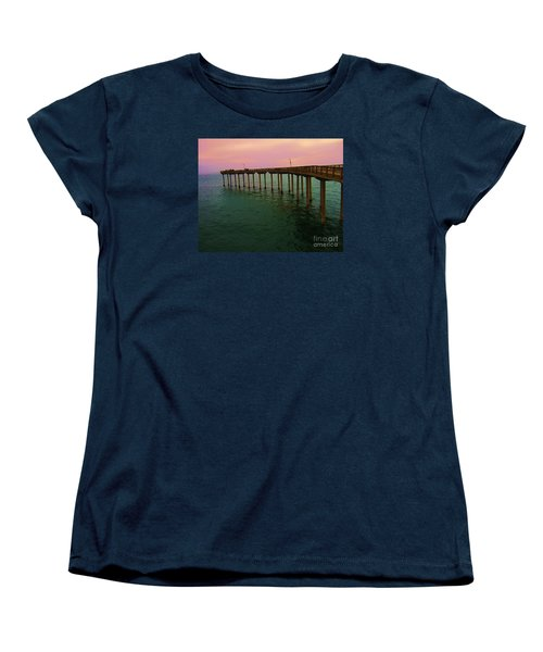Women's T-Shirt (Standard Cut) featuring the photograph Road To Water by Jasna Gopic