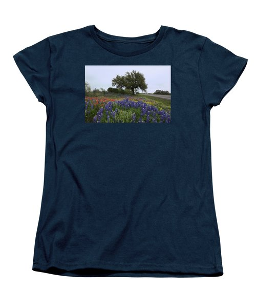 Women's T-Shirt (Standard Cut) featuring the photograph Roadside Splendor by Susan Rovira