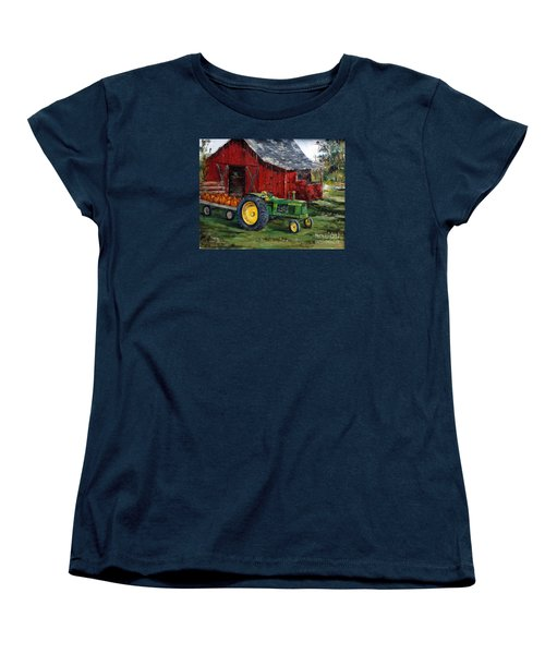 Rob Smith's Tractor Women's T-Shirt (Standard Cut) by Lee Piper