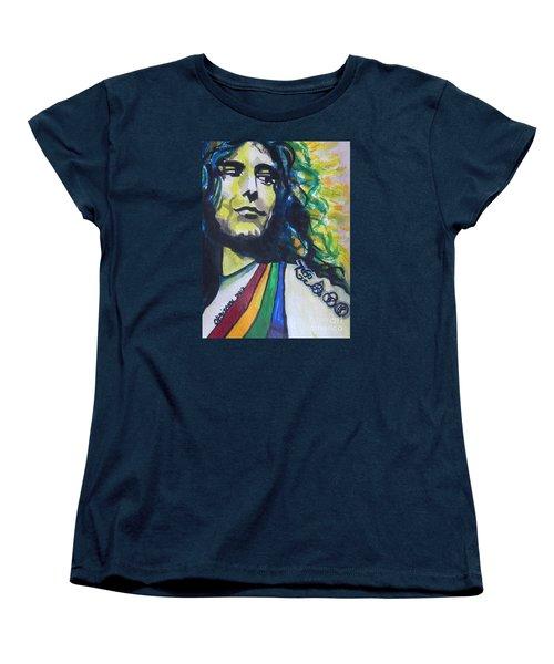Robert Plant.. Led Zeppelin Women's T-Shirt (Standard Cut) by Chrisann Ellis