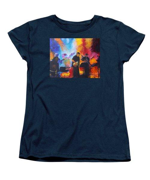 Rock And Roll Women's T-Shirt (Standard Cut) by Jan Bennicoff