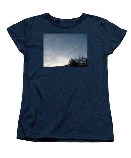 Women's T-Shirt (Standard Cut) featuring the photograph Rocket To The Stars by Michael Krek