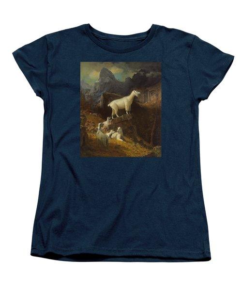 Rocky Mountain Goats Women's T-Shirt (Standard Cut) by Albert Bierstadt