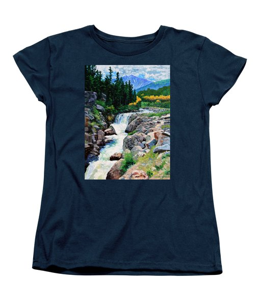 Rocky Mountain High Women's T-Shirt (Standard Cut) by John Lautermilch