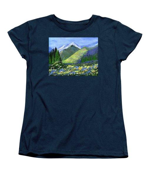 Rocky Mountain Spring Women's T-Shirt (Standard Cut) by Jamie Frier