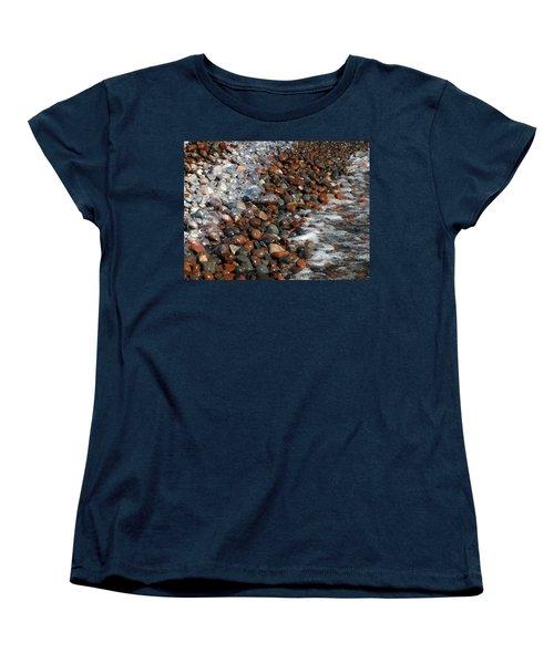 Rocky Shoreline Abstract Women's T-Shirt (Standard Cut) by James Peterson