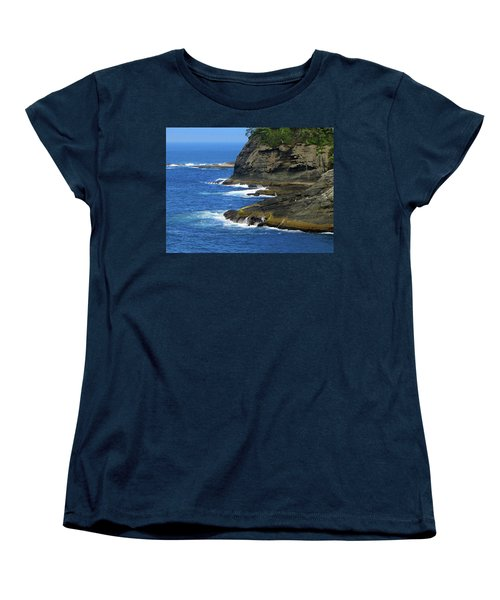 Women's T-Shirt (Standard Cut) featuring the photograph Rocky Shores by Tikvah's Hope