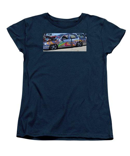 Rolling Art Lowrider Women's T-Shirt (Standard Cut) by Aaron Martens