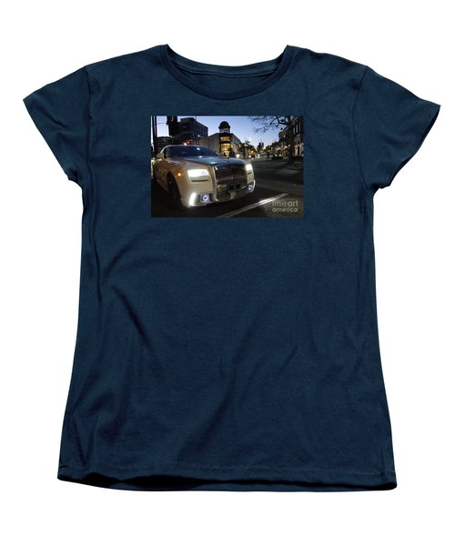 Rolls Royce Parked At The Bottom Of Rodeo Drive Women's T-Shirt (Standard Cut) by Nina Prommer