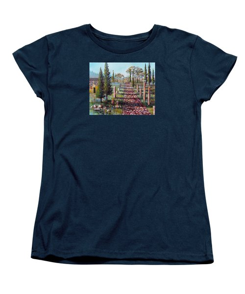 Roman Road Women's T-Shirt (Standard Cut) by Lou Ann Bagnall