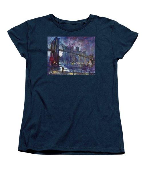 Romance By East River Nyc Women's T-Shirt (Standard Cut) by Ylli Haruni