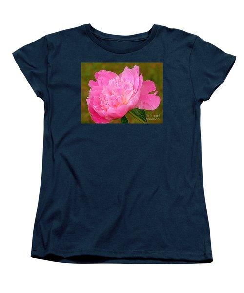 Pink Peony Women's T-Shirt (Standard Cut) by Eunice Miller