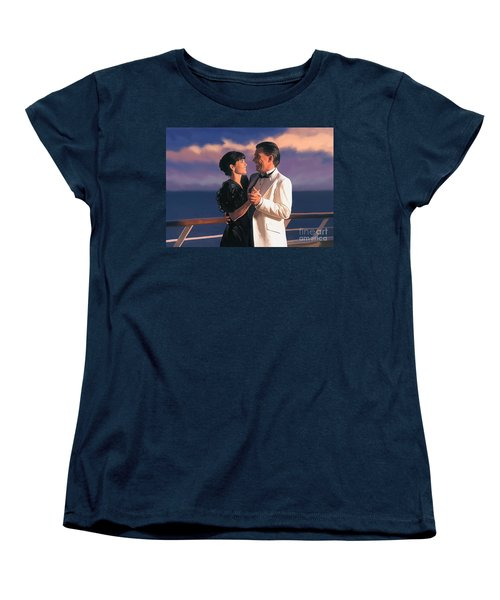 Women's T-Shirt (Standard Cut) featuring the painting Romantic Cruise by Tim Gilliland