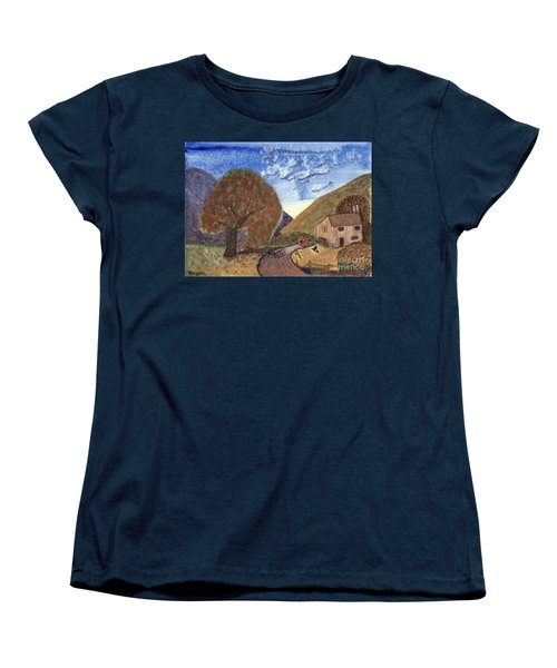 Women's T-Shirt (Standard Cut) featuring the painting Romantic Walk by Tracey Williams