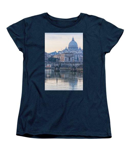 Rome Saint Peters Basilica 02 Women's T-Shirt (Standard Cut) by Antony McAulay
