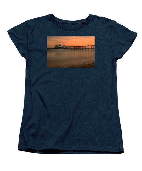 Romeo's Pier Women's T-Shirt (Standard Cut) by Linda Villers