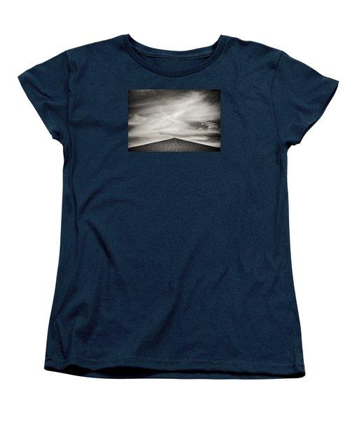 Rooftop Sky Women's T-Shirt (Standard Cut) by Darryl Dalton
