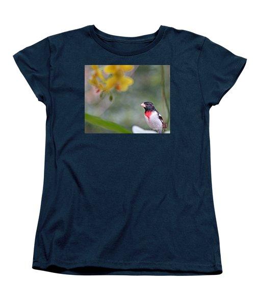 Women's T-Shirt (Standard Cut) featuring the photograph Rose Breasted Grosbeak Photo by Luana K Perez