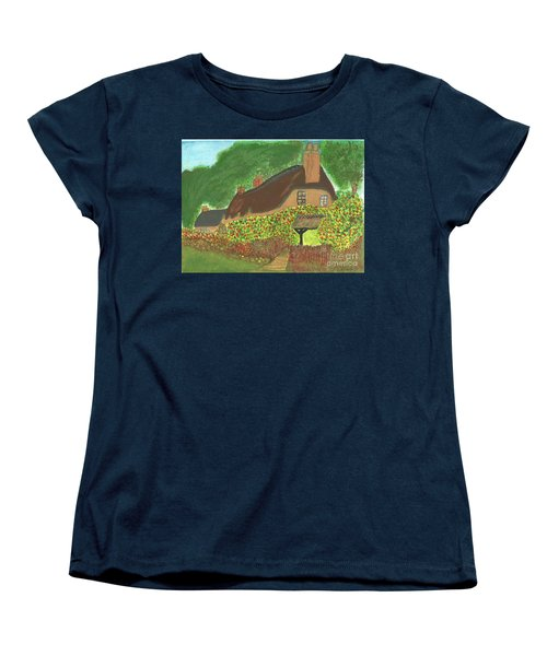 Rose Cottage Women's T-Shirt (Standard Cut) by Tracey Williams