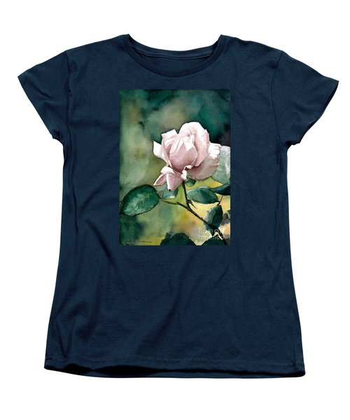 Women's T-Shirt (Standard Cut) featuring the painting Lilac Rose  by Greta Corens