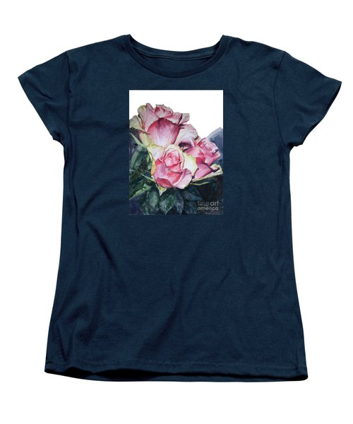Pink Rose Michelangelo Women's T-Shirt (Standard Cut) by Greta Corens