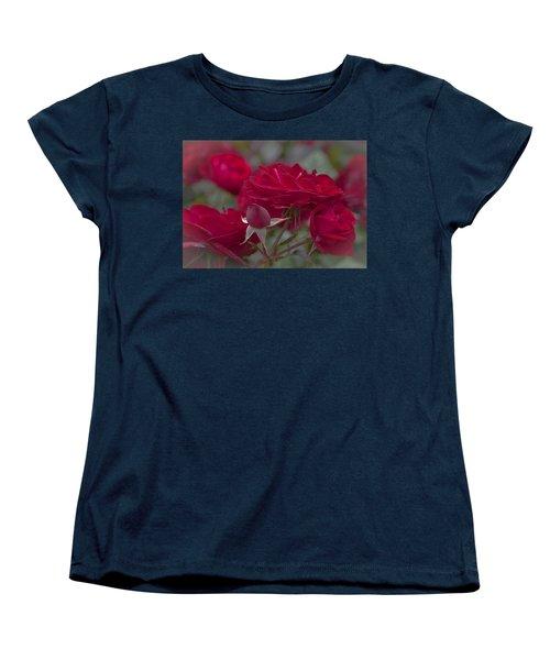 Roses And Roses Women's T-Shirt (Standard Cut) by Maj Seda