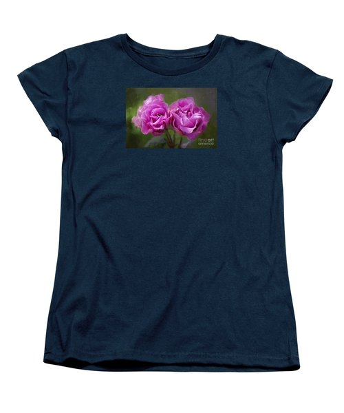 Rosey Twins Women's T-Shirt (Standard Cut) by Adria Trail