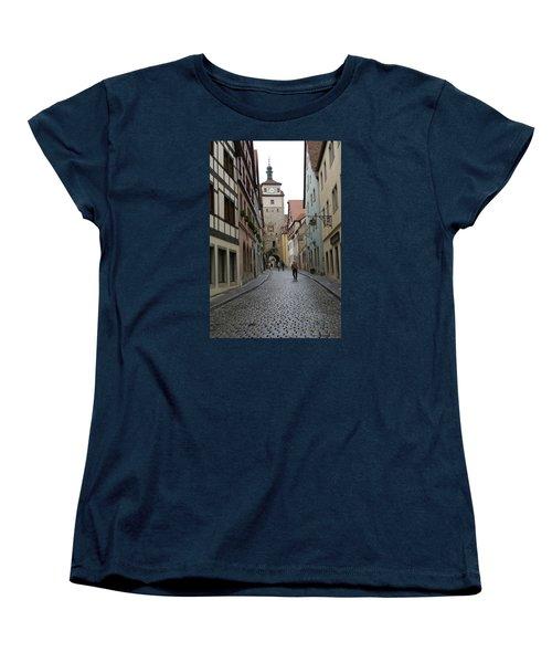 Women's T-Shirt (Standard Cut) featuring the photograph Rothenburg Ob Der Tauber by Heidi Poulin