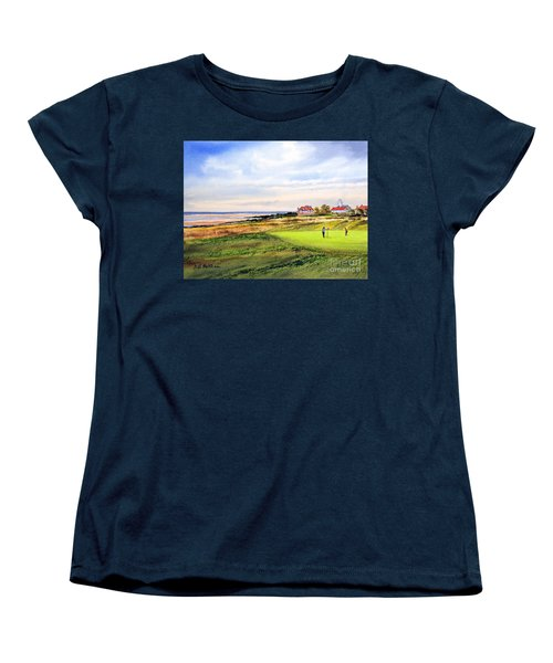 Royal Liverpool Golf Course Hoylake Women's T-Shirt (Standard Cut) by Bill Holkham