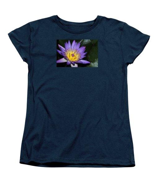 Royal Purple Water Lily #6 Women's T-Shirt (Standard Cut)