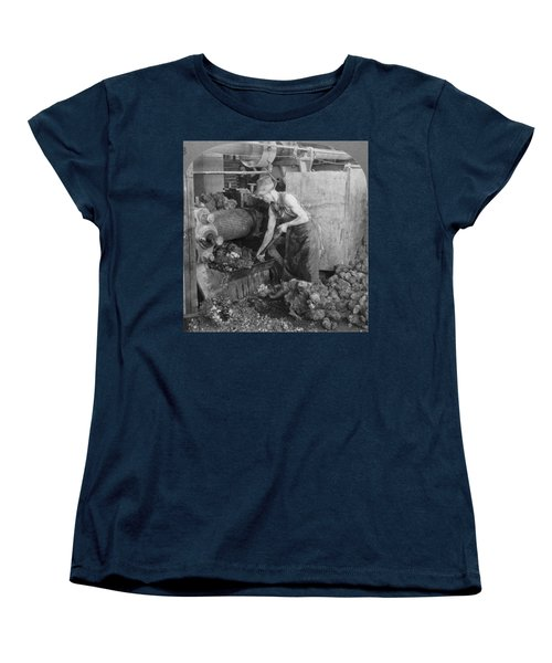Women's T-Shirt (Standard Cut) featuring the painting Rubber Production, C1928 by Granger