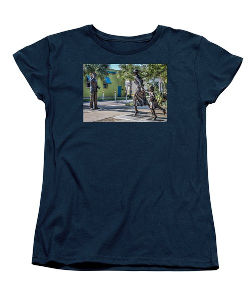 Running For The Train Women's T-Shirt (Standard Cut) by Jane Luxton