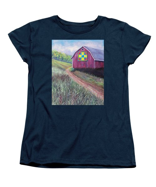 Women's T-Shirt (Standard Cut) featuring the painting Rural America's Gift by Susan DeLain