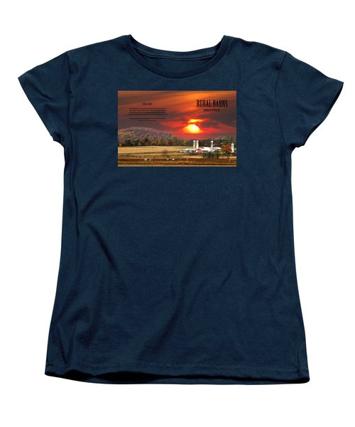 Women's T-Shirt (Standard Cut) featuring the photograph Rural Barns  My Book Cover by Randall Branham