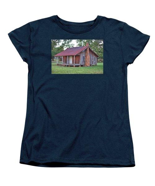 Women's T-Shirt (Standard Cut) featuring the photograph Rural Georgia Cabin by Gordon Elwell