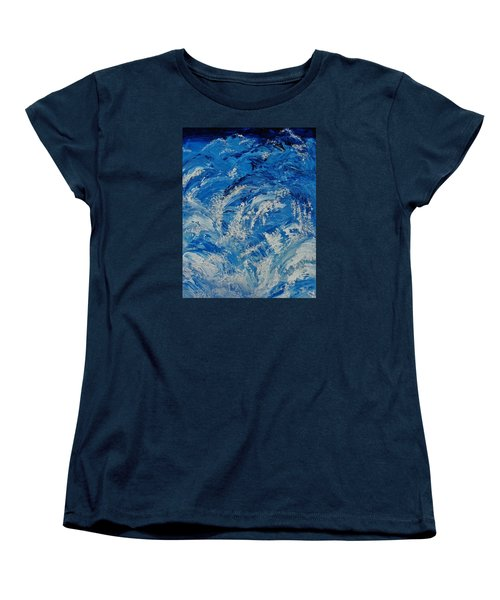 Women's T-Shirt (Standard Cut) featuring the painting Rush by Katherine Young-Beck