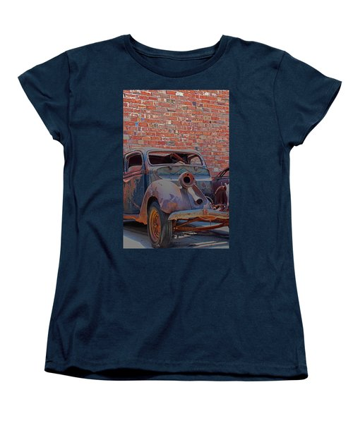Women's T-Shirt (Standard Cut) featuring the photograph Rust In Goodland by Lynn Sprowl