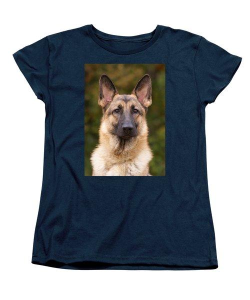 Sable German Shepherd Dog Women's T-Shirt (Standard Cut) by Sandy Keeton