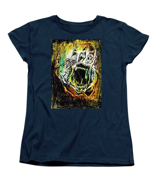 Sacred Paw Impression Women's T-Shirt (Standard Cut) by Ayasha Loya