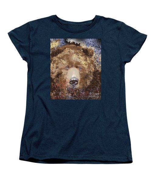 Women's T-Shirt (Standard Cut) featuring the digital art Sad Brown Bear by Kim Prowse