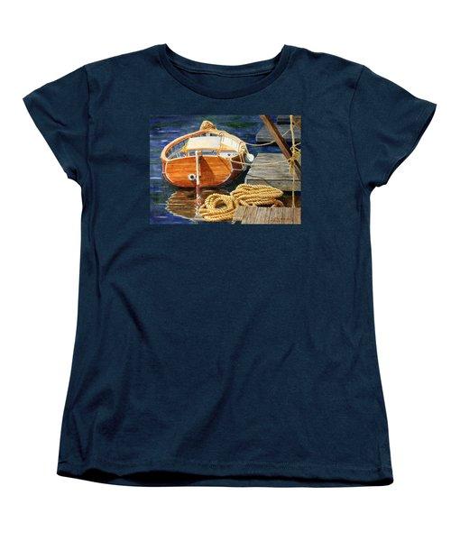 Safe Mooring Women's T-Shirt (Standard Cut) by Roger Rockefeller