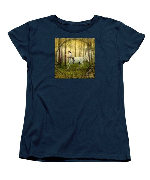Sagittarius Women's T-Shirt (Standard Cut) by Linda Lees