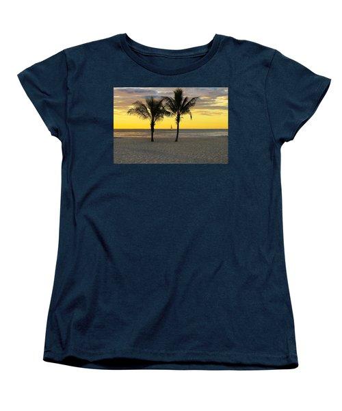 Sail Away At Dawn Women's T-Shirt (Standard Cut) by Roger Becker