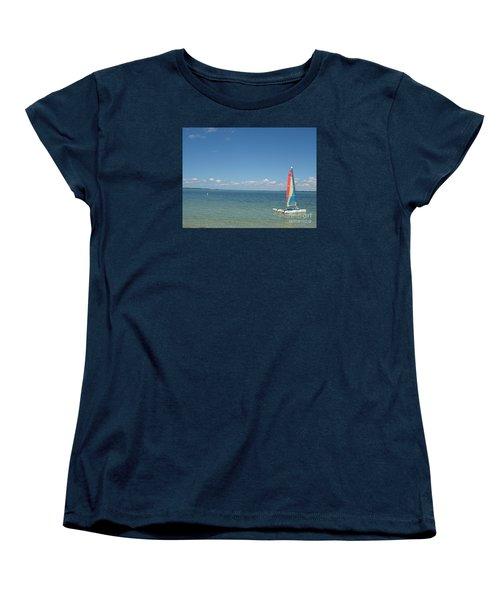 Sailing  At Key Largo Women's T-Shirt (Standard Cut) by Christiane Schulze Art And Photography