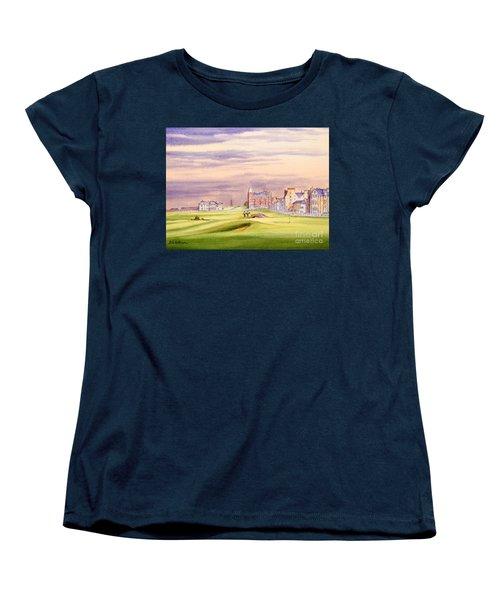 Saint Andrews Golf Course Scotland - 17th Green Women's T-Shirt (Standard Cut) by Bill Holkham